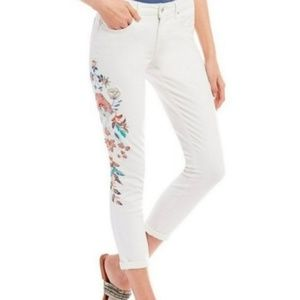 Jessica Simpson Embroidered White Jeans